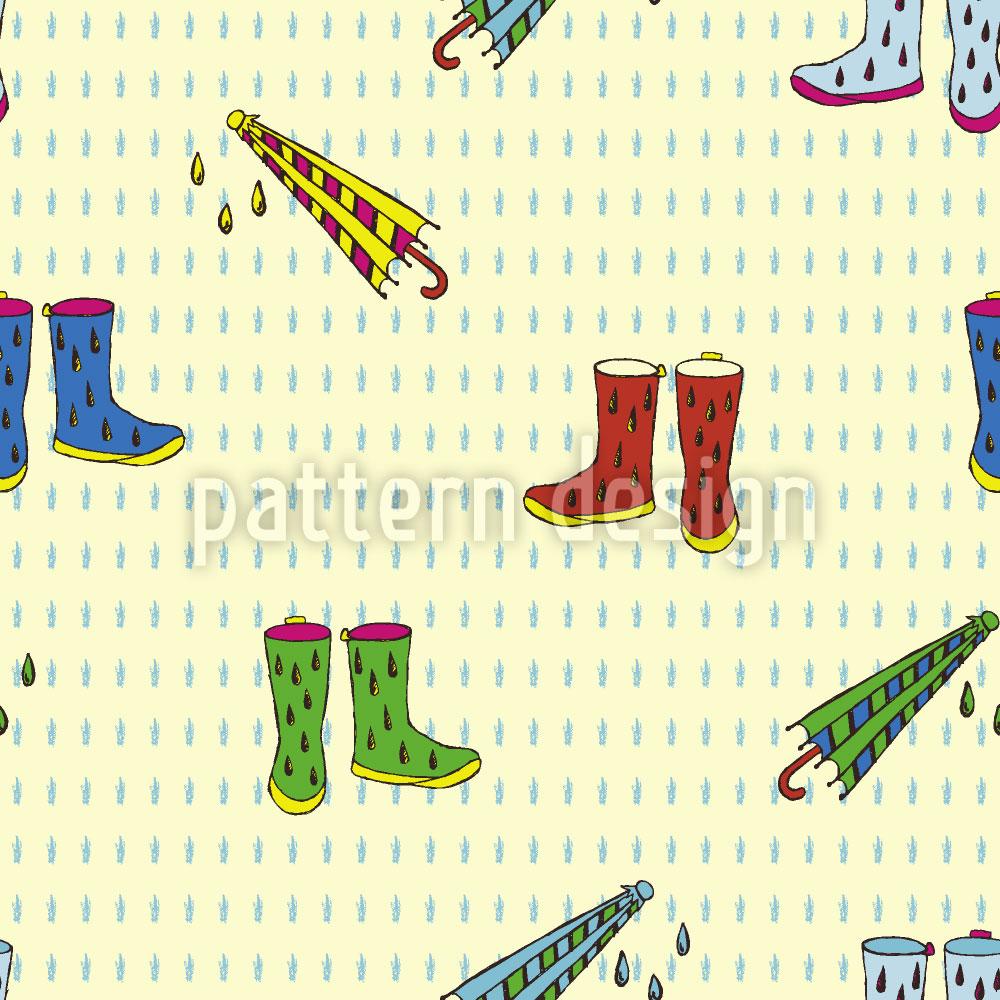 Designtapete Regen Schuhe