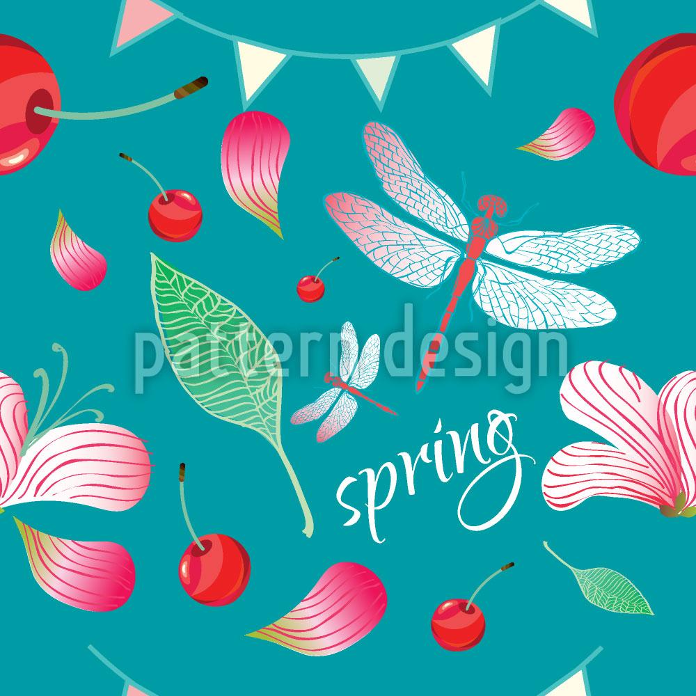 Designtapete Frühlingsfest