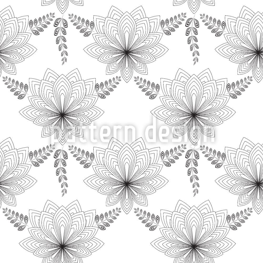 Designtapete Art Deco Blume
