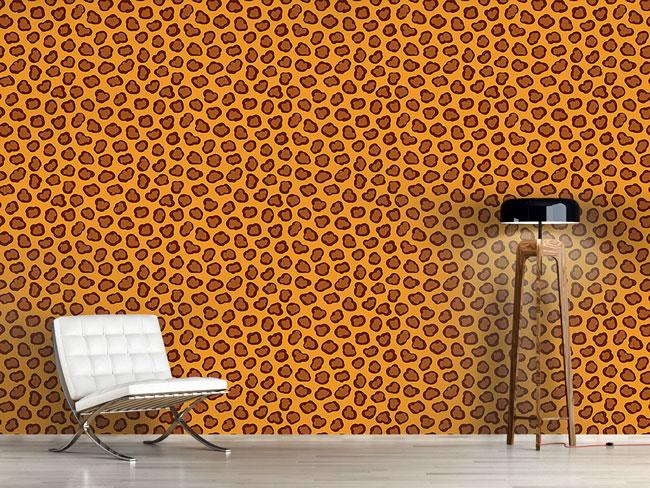 Designtapete Leoparden Flecken