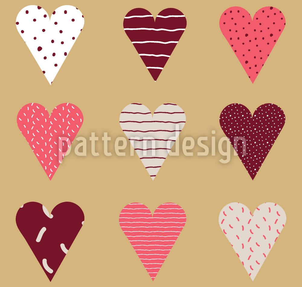 Designtapete Valentins Herzen