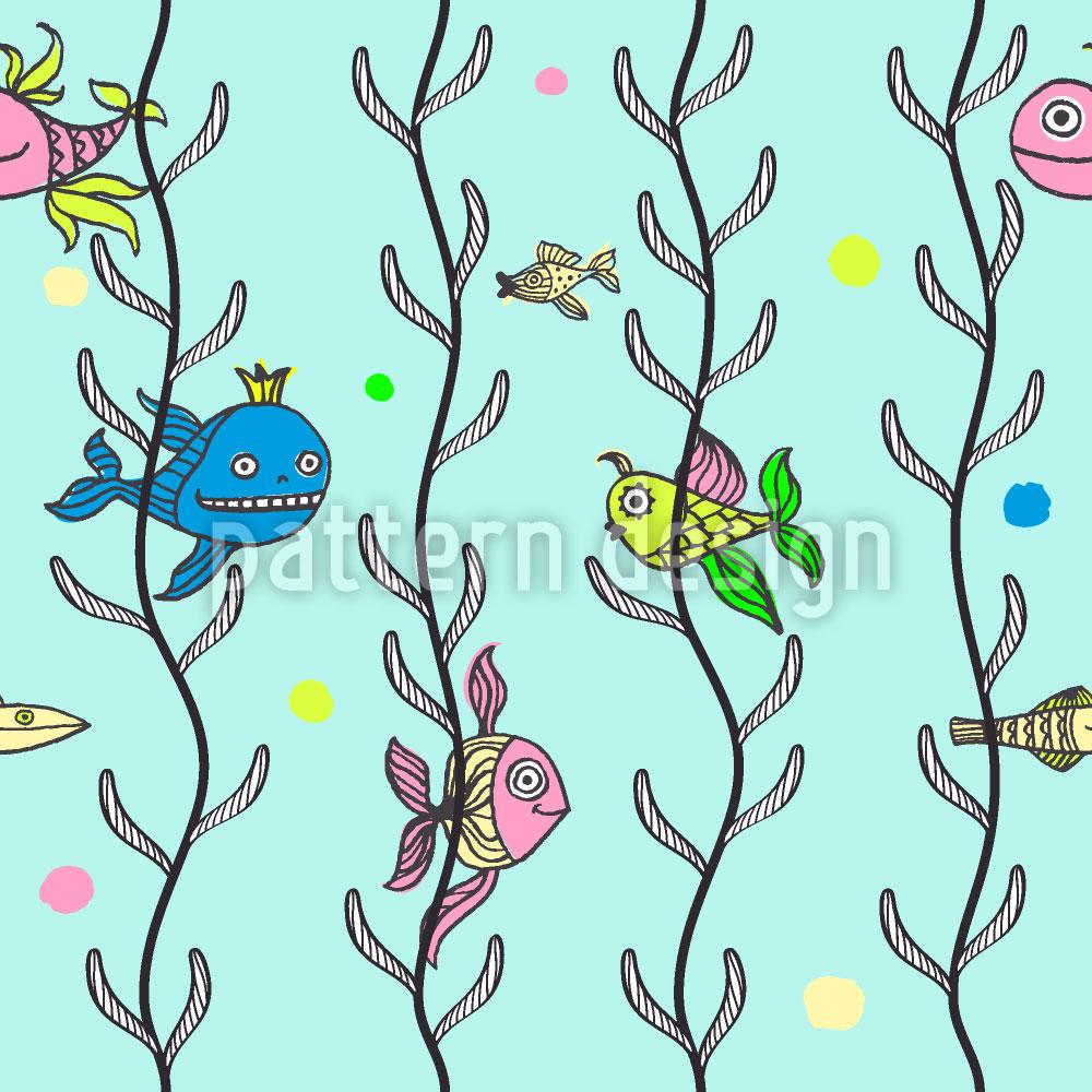 Designtapete Unterwasser Versteckspiel