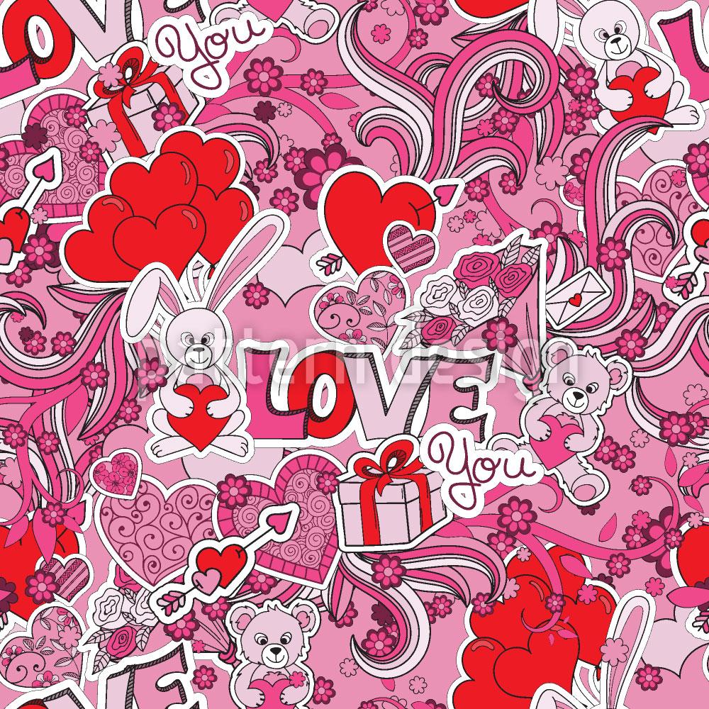 Designtapete Liebe Geben