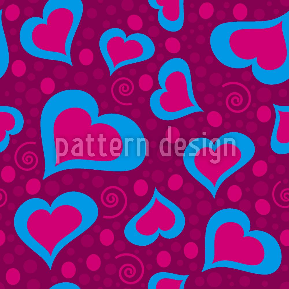 Designtapete Verrückte Herzen