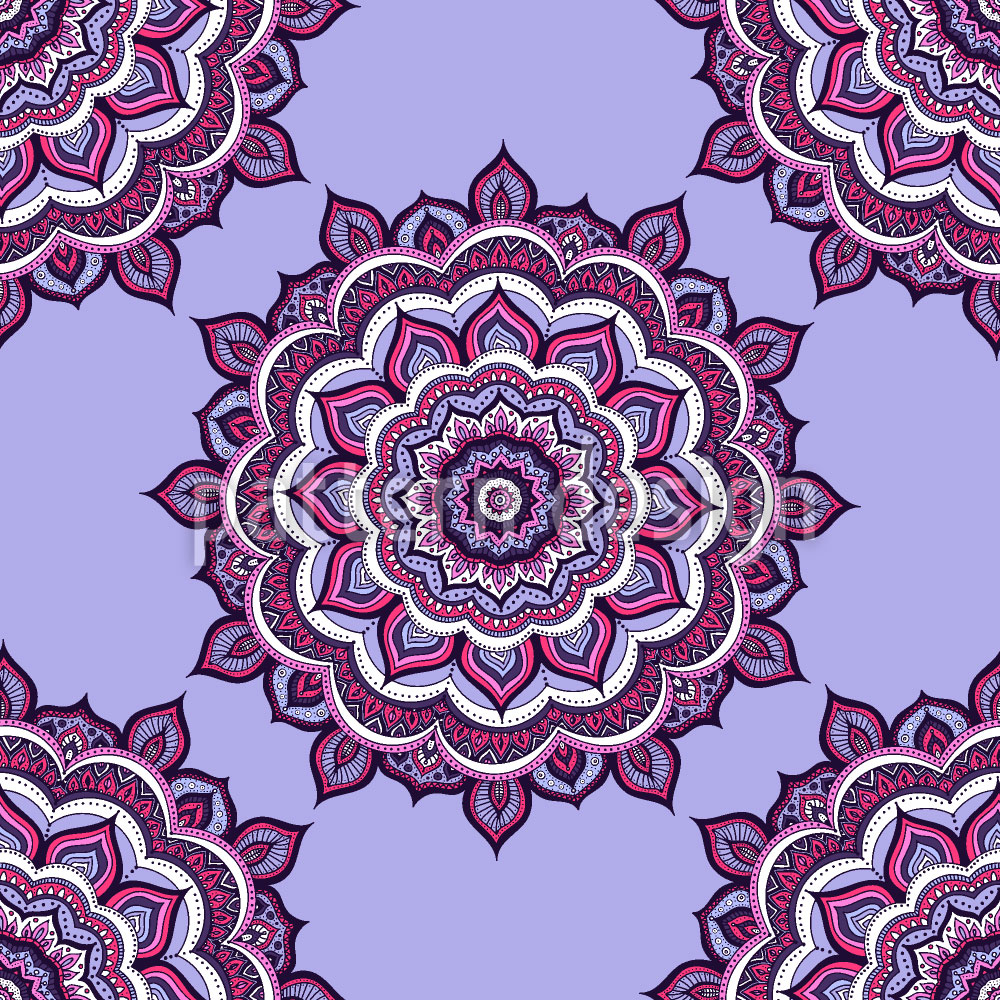 Designtapete Doodle Mandala
