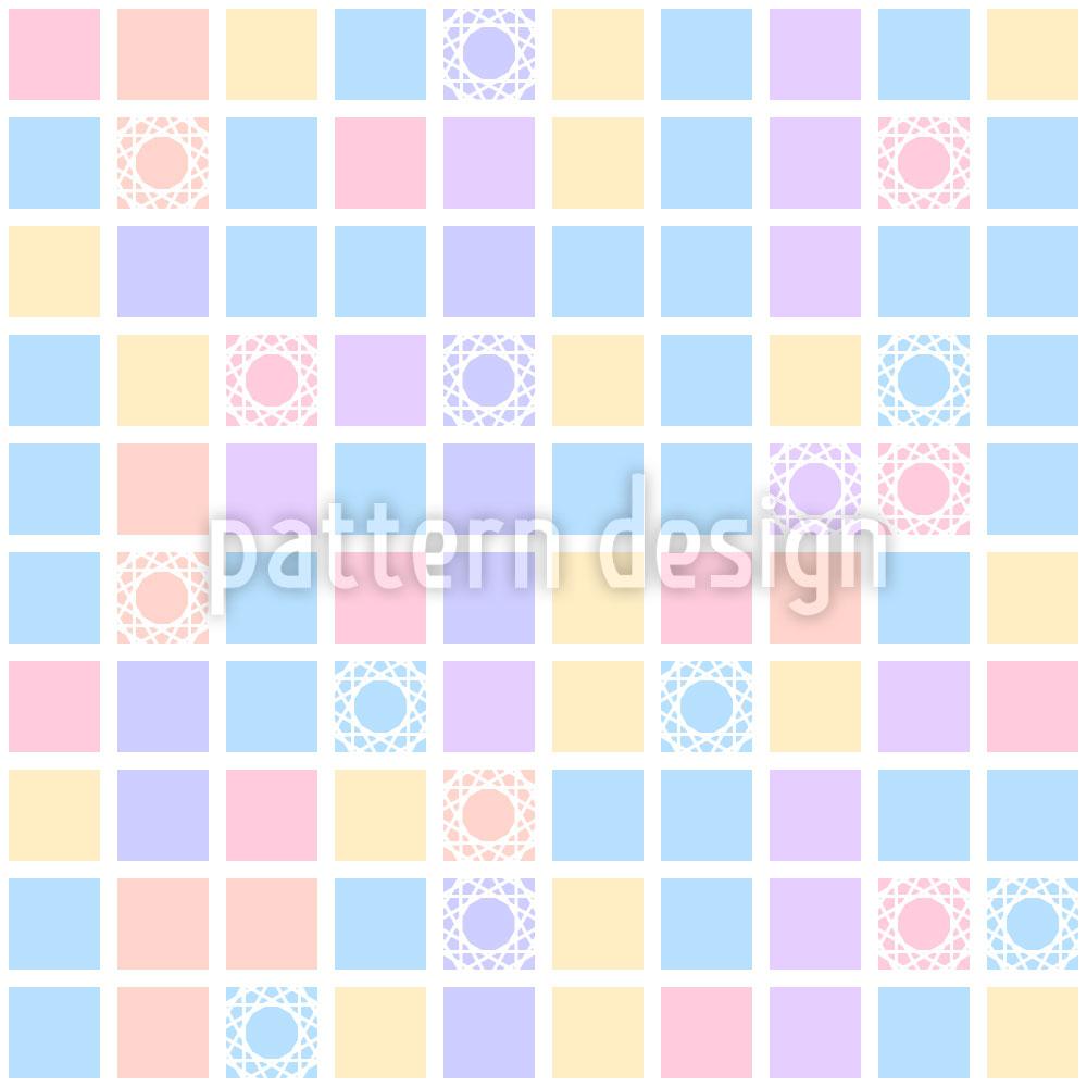 Designtapete Quadratisches Spiel