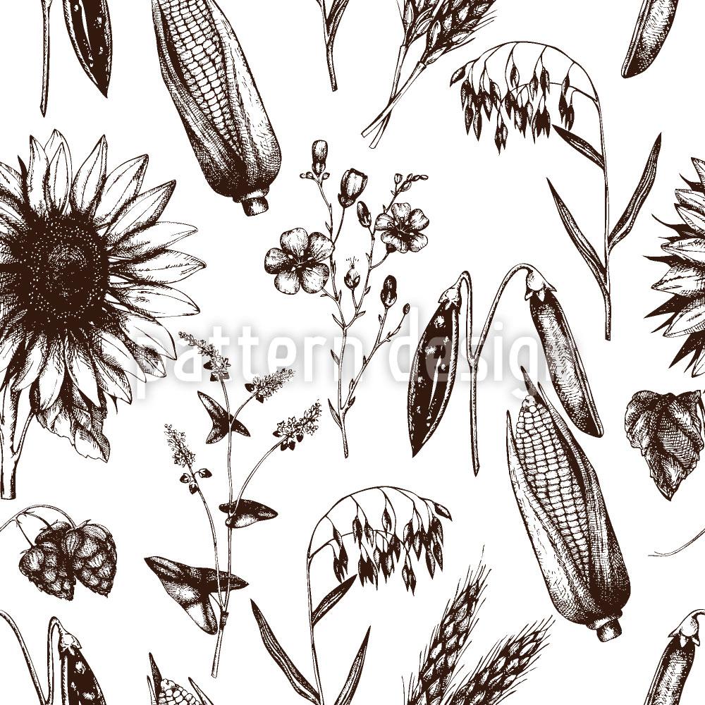 Designtapete Bio Lebensmittel