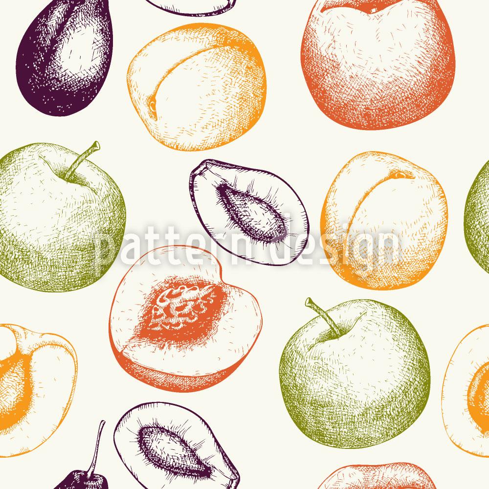 Designtapete Frische Früchte