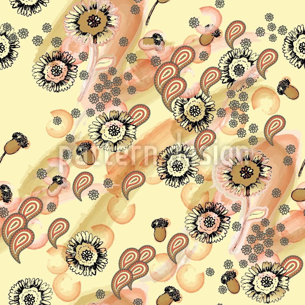 Designtapete Gelbe Flora