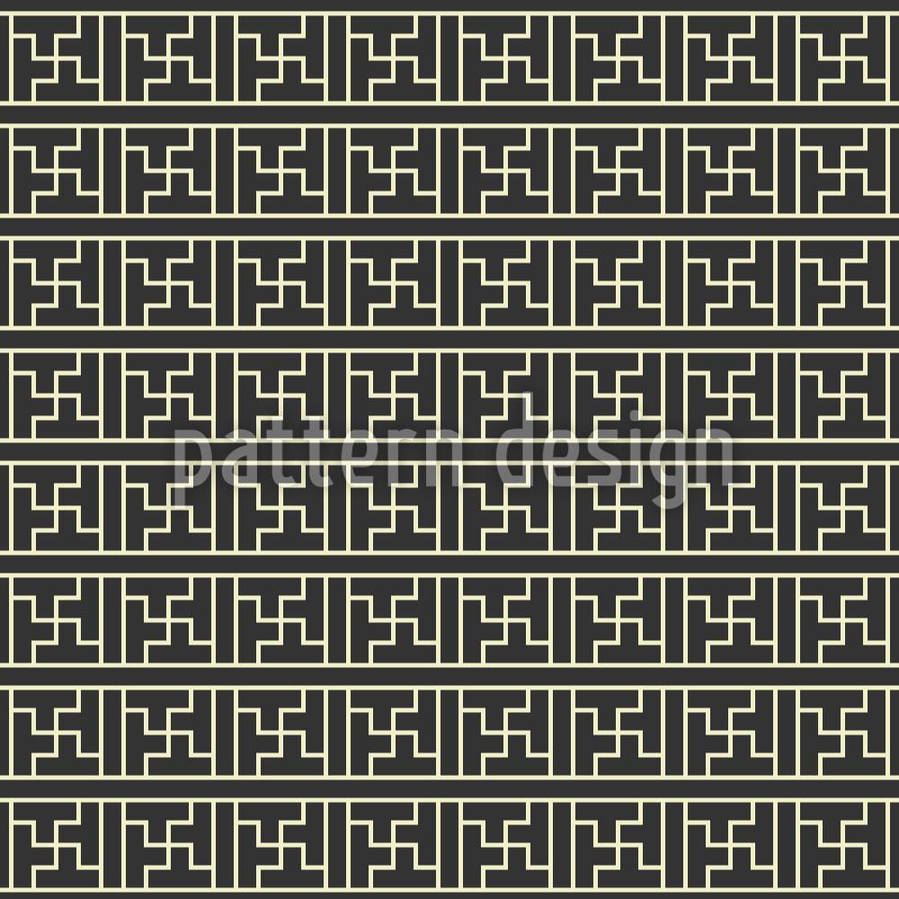 Designtapete Chinesische Linien