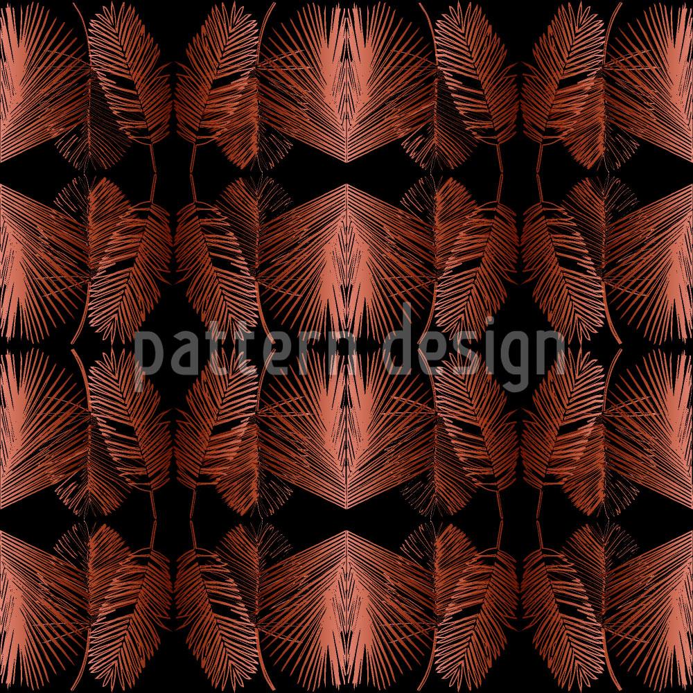 Designtapete Dschungel Blätter