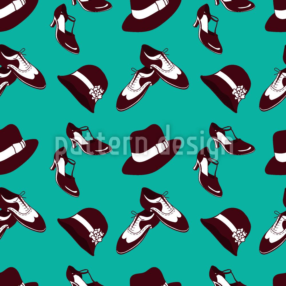 Designtapete Zwanziger Jahre Schuhe und Hüte