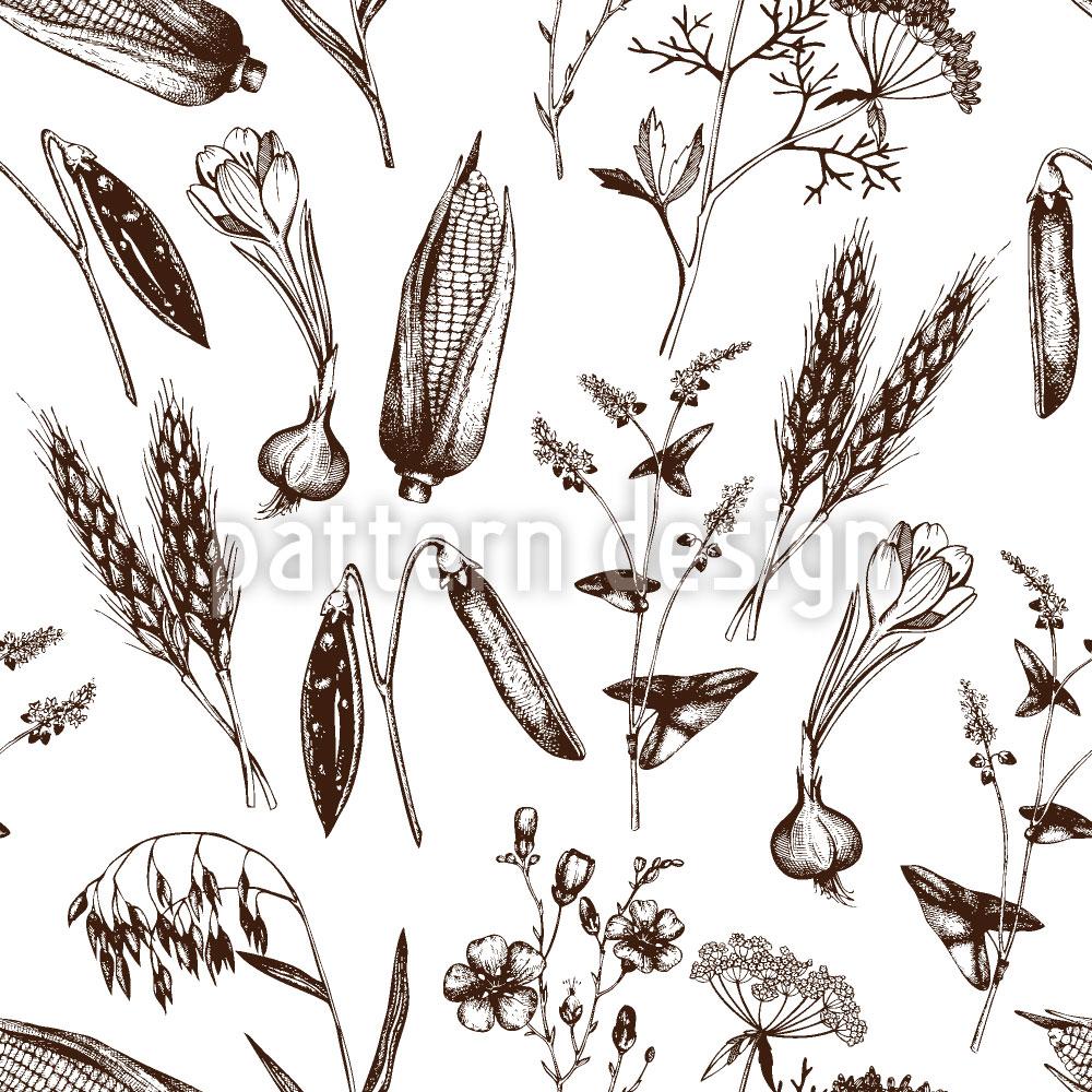 Designtapete Vintage Pflanzen