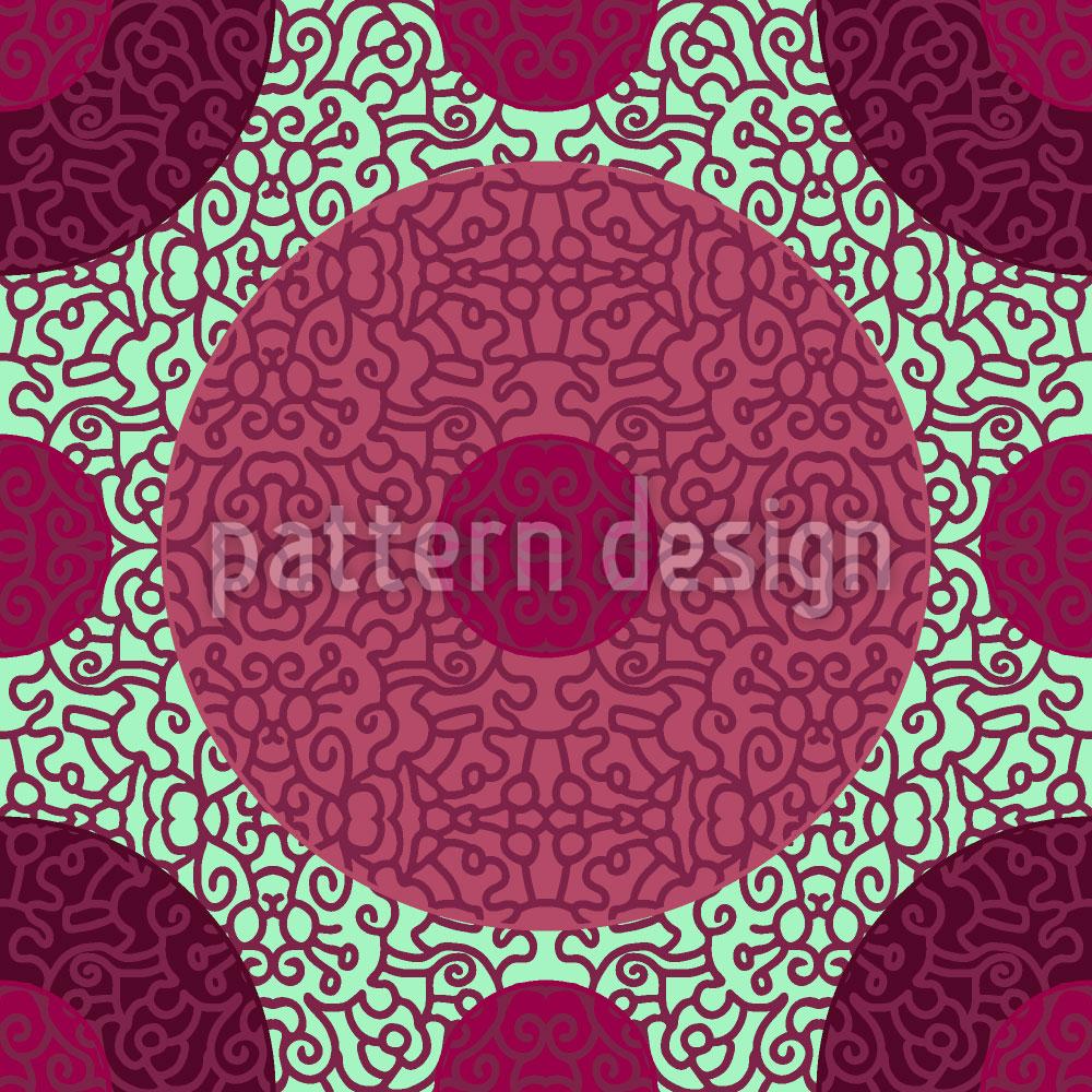 Designtapete Ornamentale Punkte