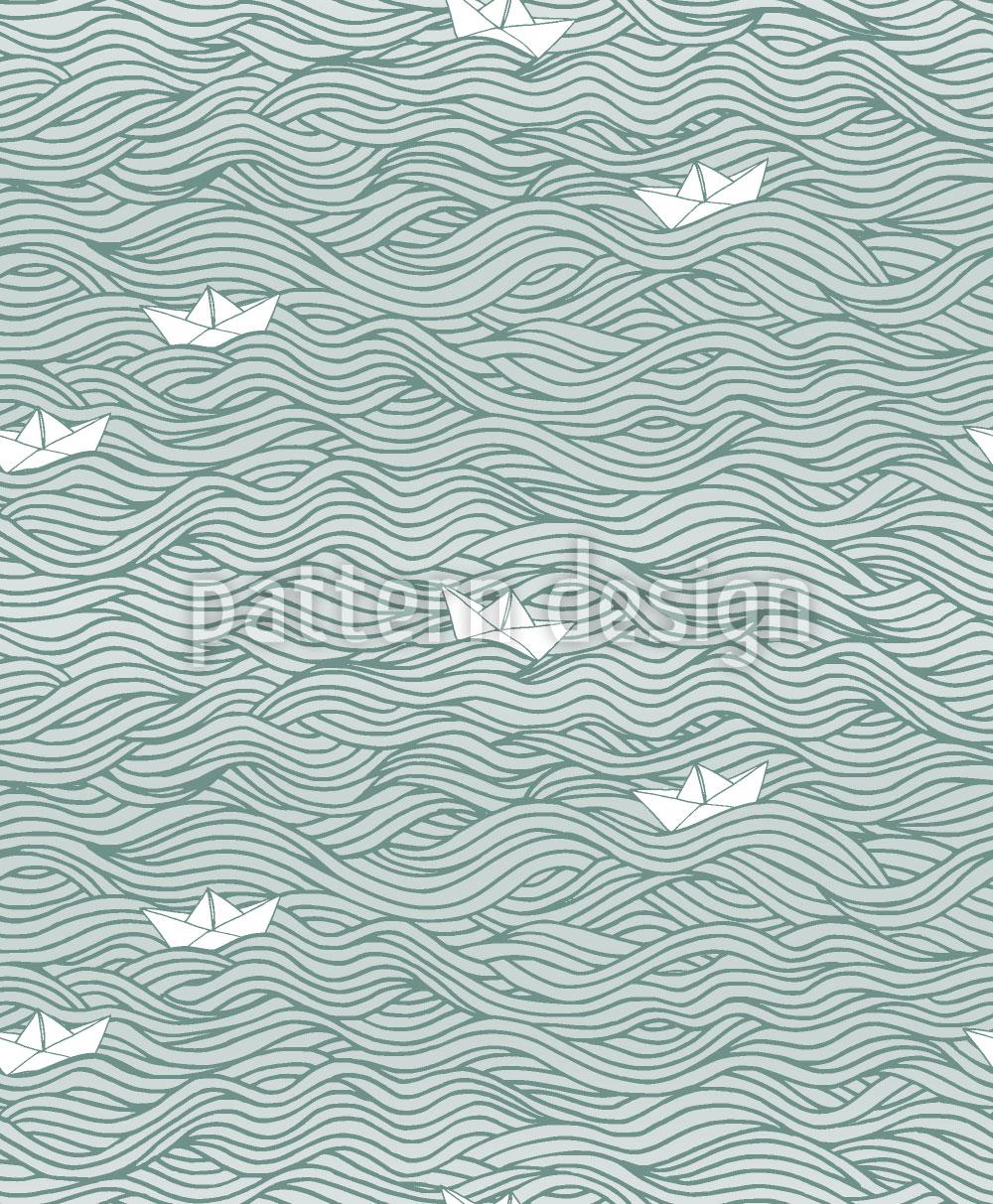 Designtapete Kleine Papier-Boote