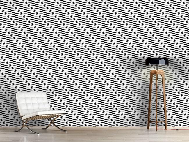 Designtapete Wellige Textur