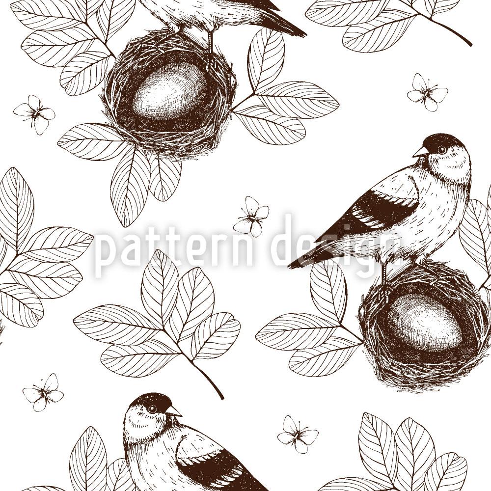 Designtapete Vogel Im Nest