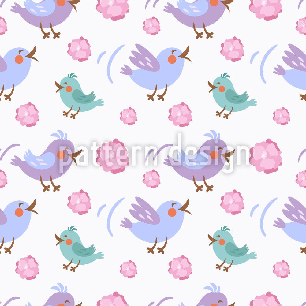 Designtapete Schnatternde Vögel