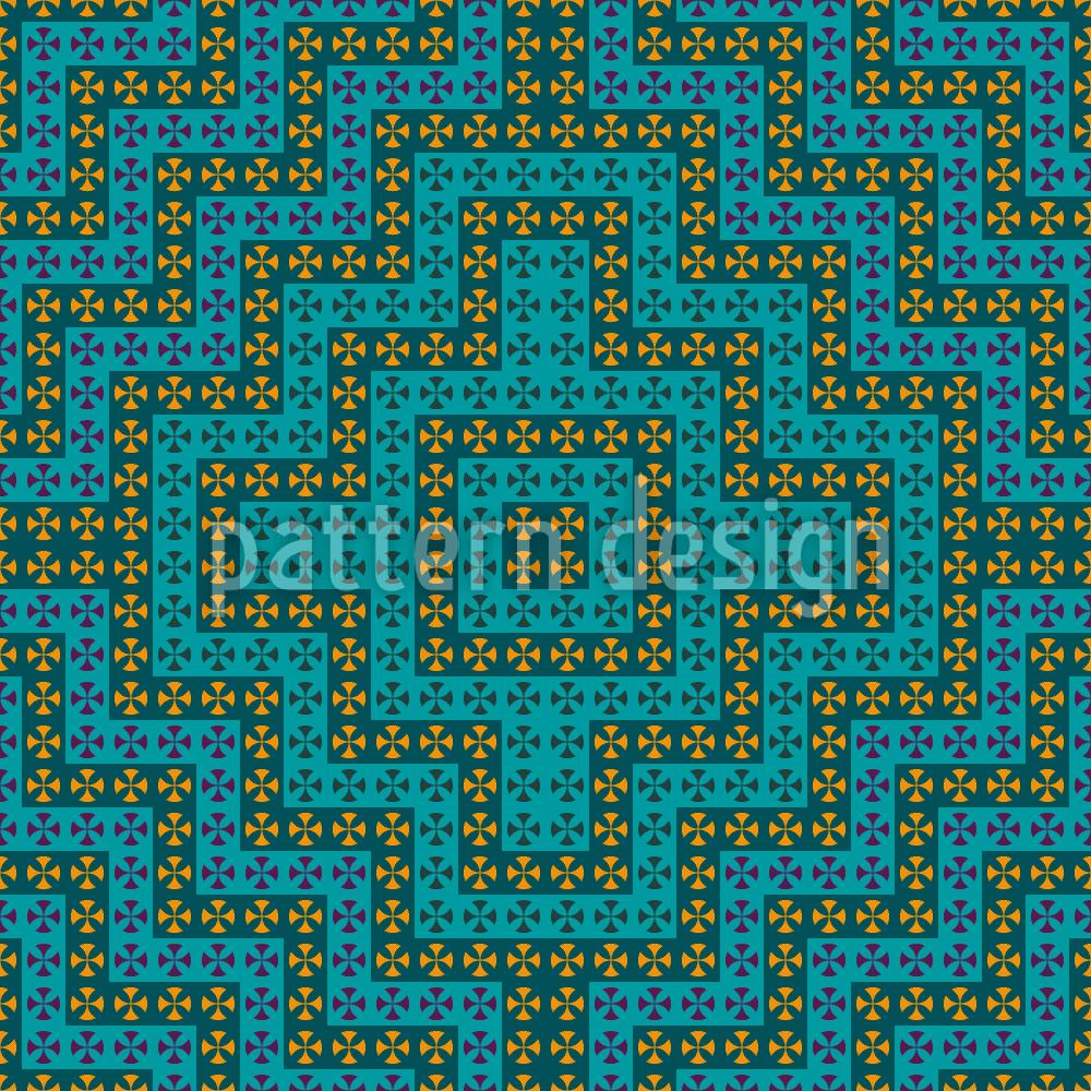 Designtapete Maurisches Verwirrungsspiel