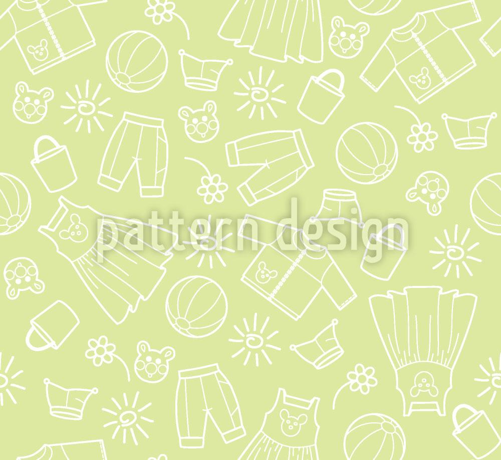 Designtapete Welt der Kinder Grün