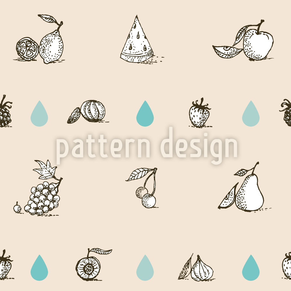 Designtapete Früchte Lieben Wasser