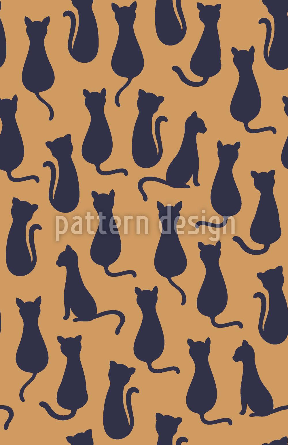 Designtapete Katzen Silhouetten