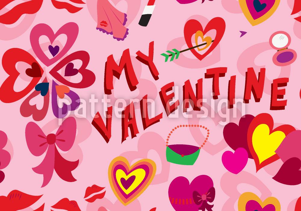 Designtapete Mein Valentin