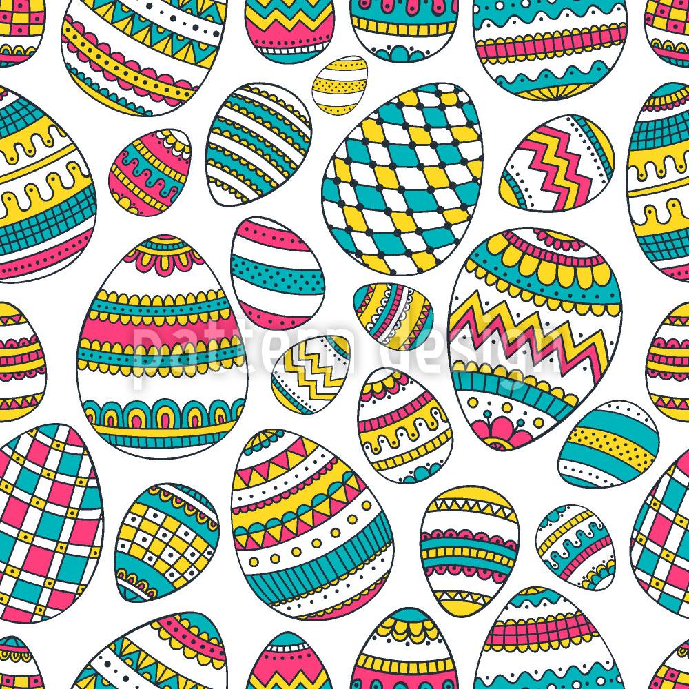 Designtapete Verzierte Eier