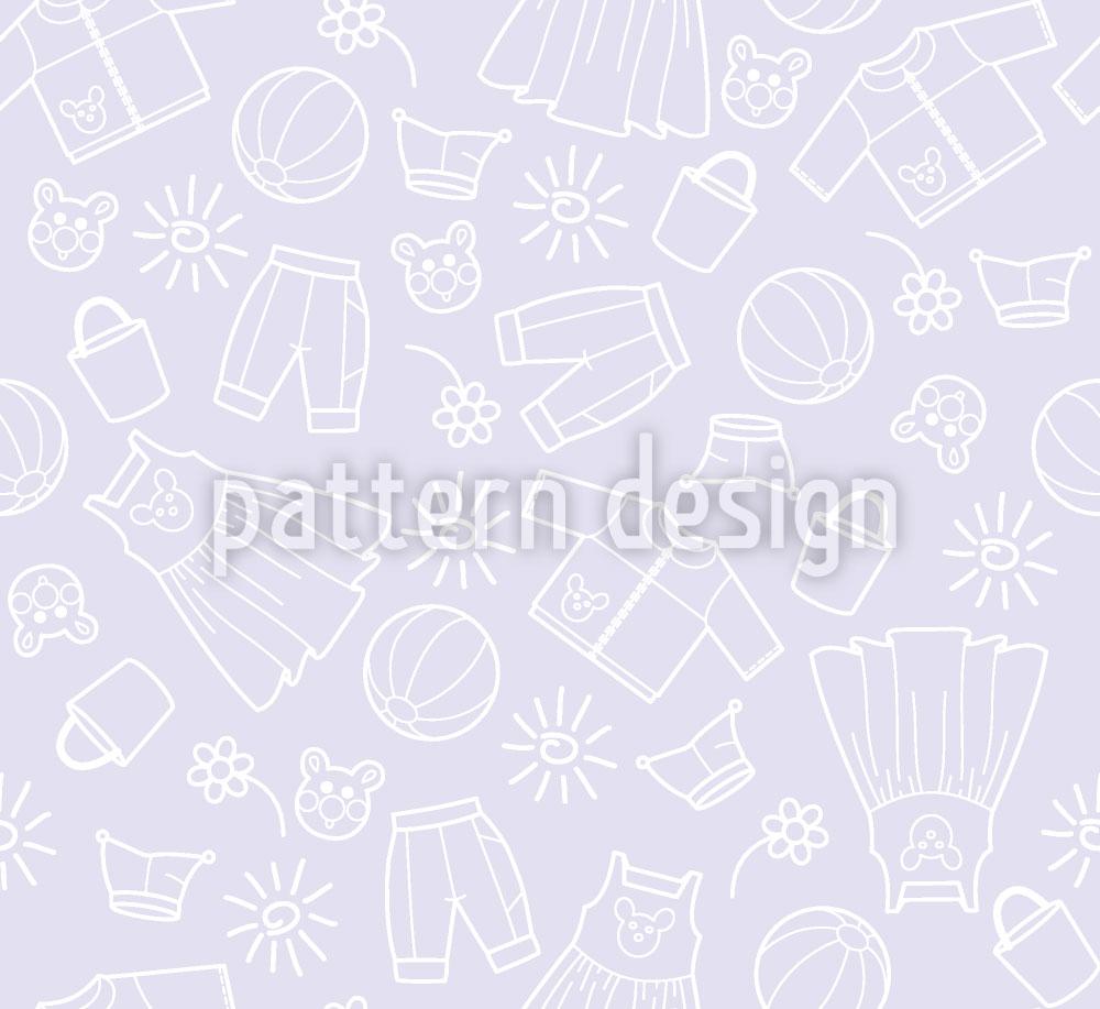 Designtapete Welt der Kinder Violett