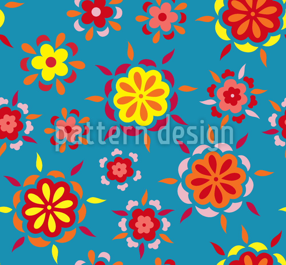 Designtapete Blumen Ausbruch