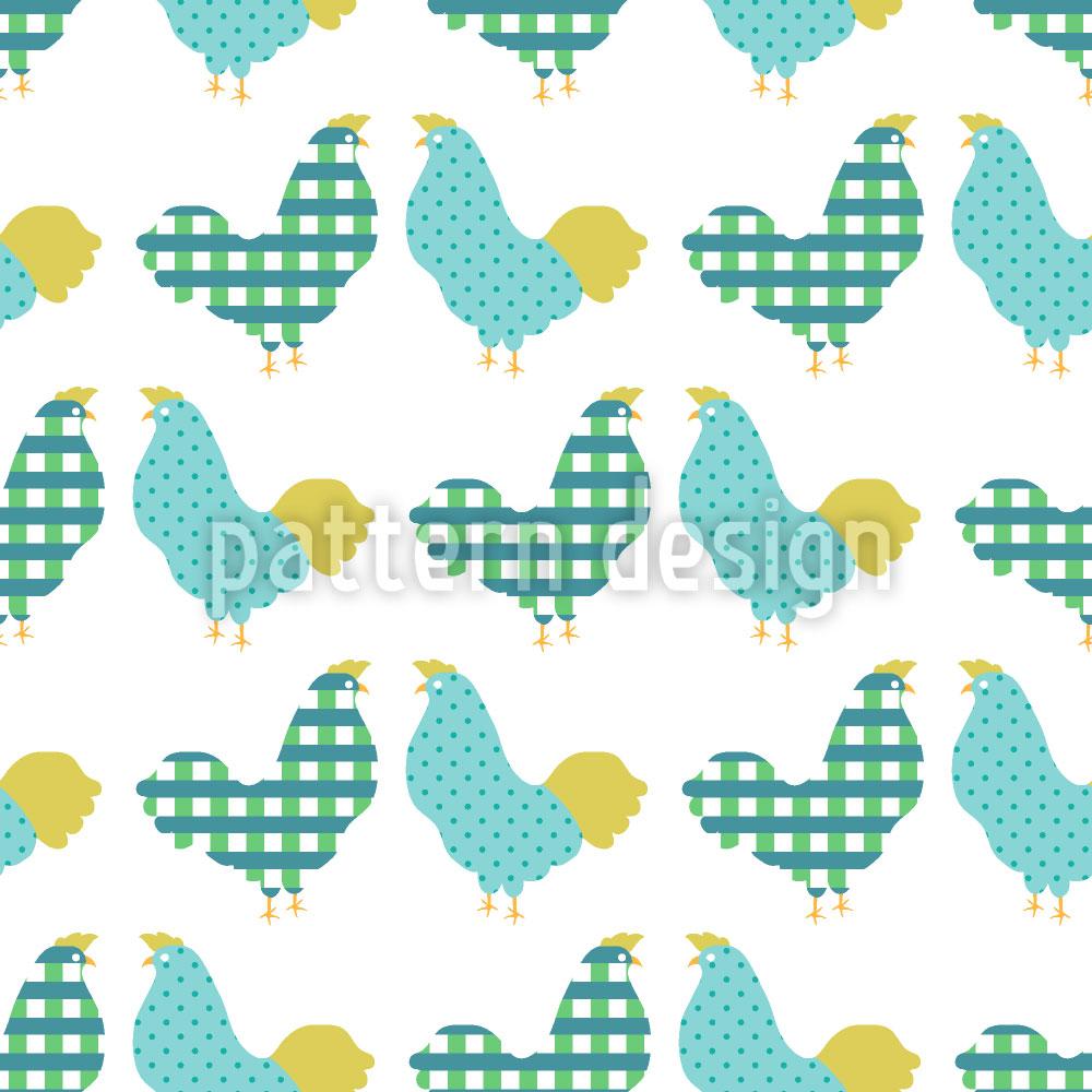 Designtapete Hühner