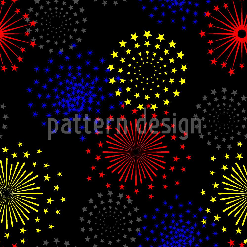 Designtapete Spektakuläres Feuerwerk