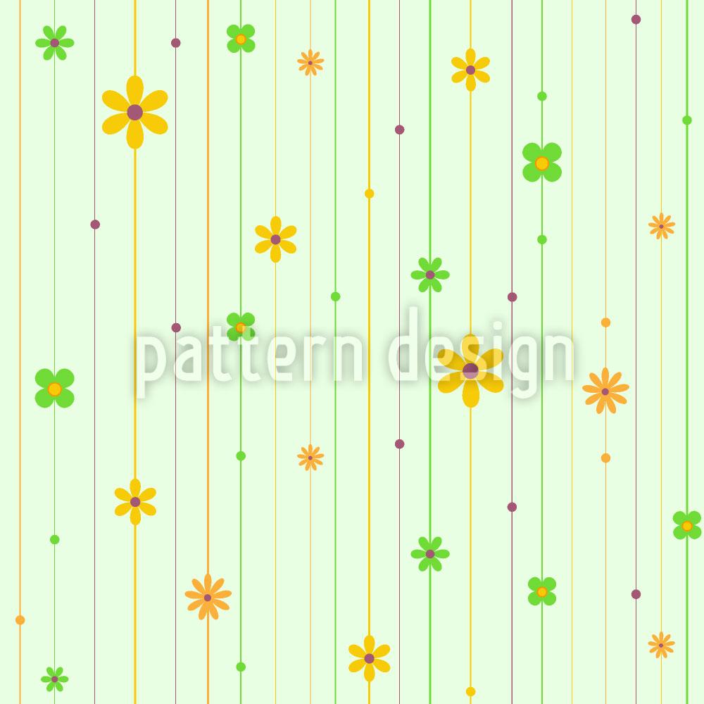 Designtapete Blumen Stränge