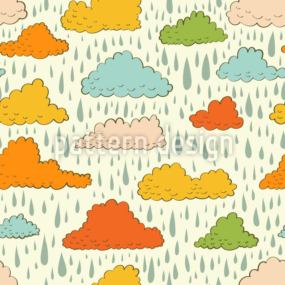 Designtapete Wolken und Regen
