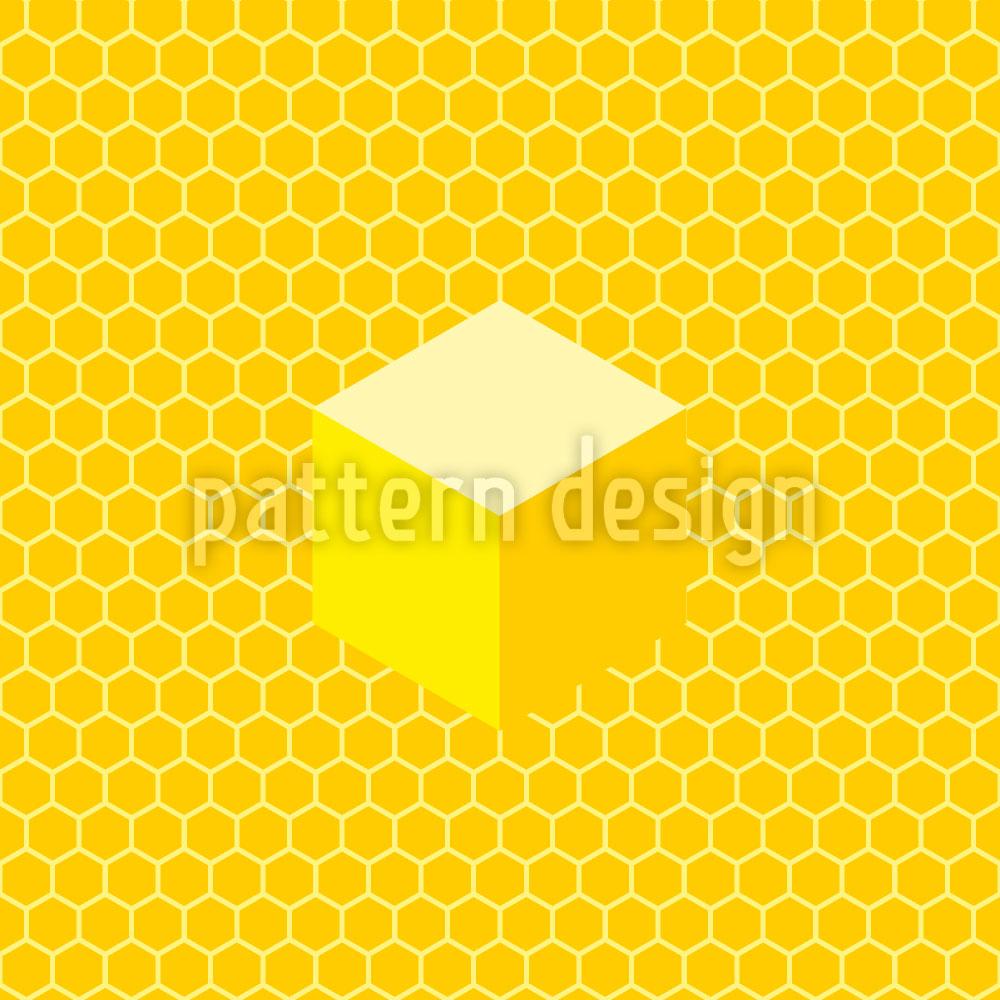 Designtapete Honigwaben
