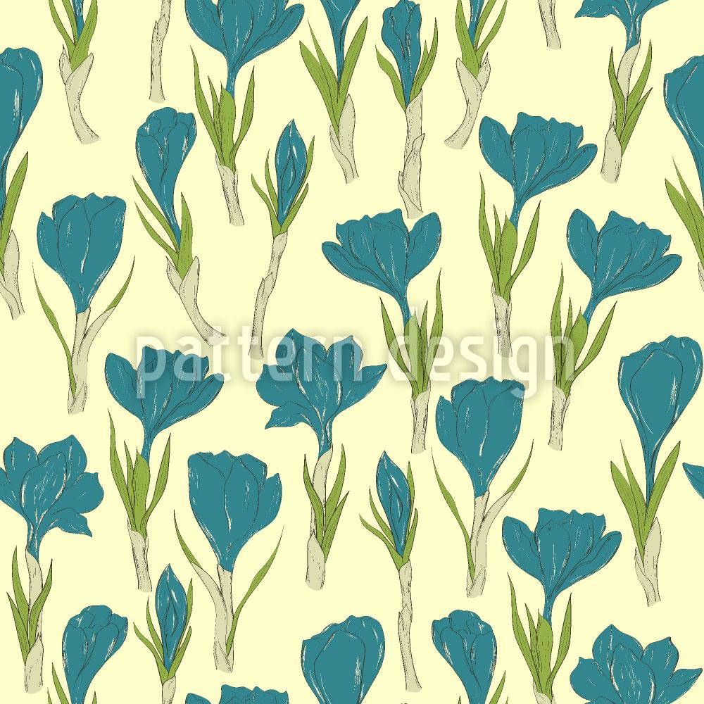 Designtapete Krokus Blüten