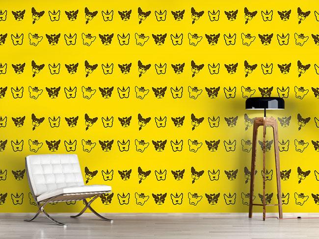 Designtapete Französische Bulldoggen