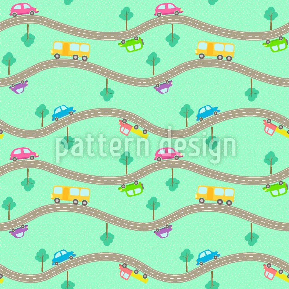 Designtapete Strassen und Autos