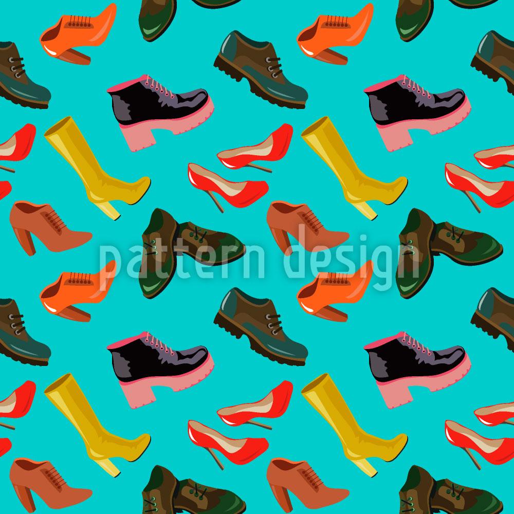 Designtapete Arten von Schuhen