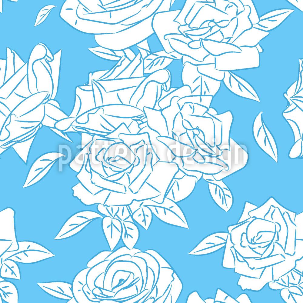 Designtapete Kühle Rose