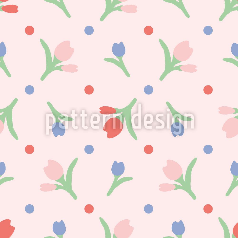 Designtapete Frühlingsblumen