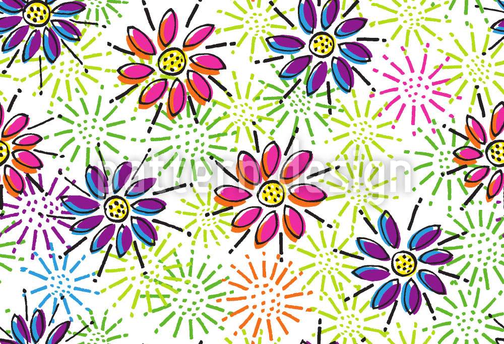 Designtapete Freude Bringende Blumen
