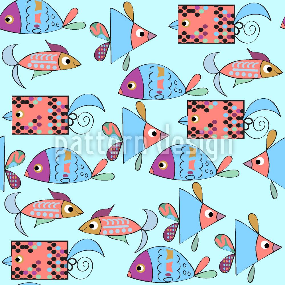 Designtapete Fantasie Fische