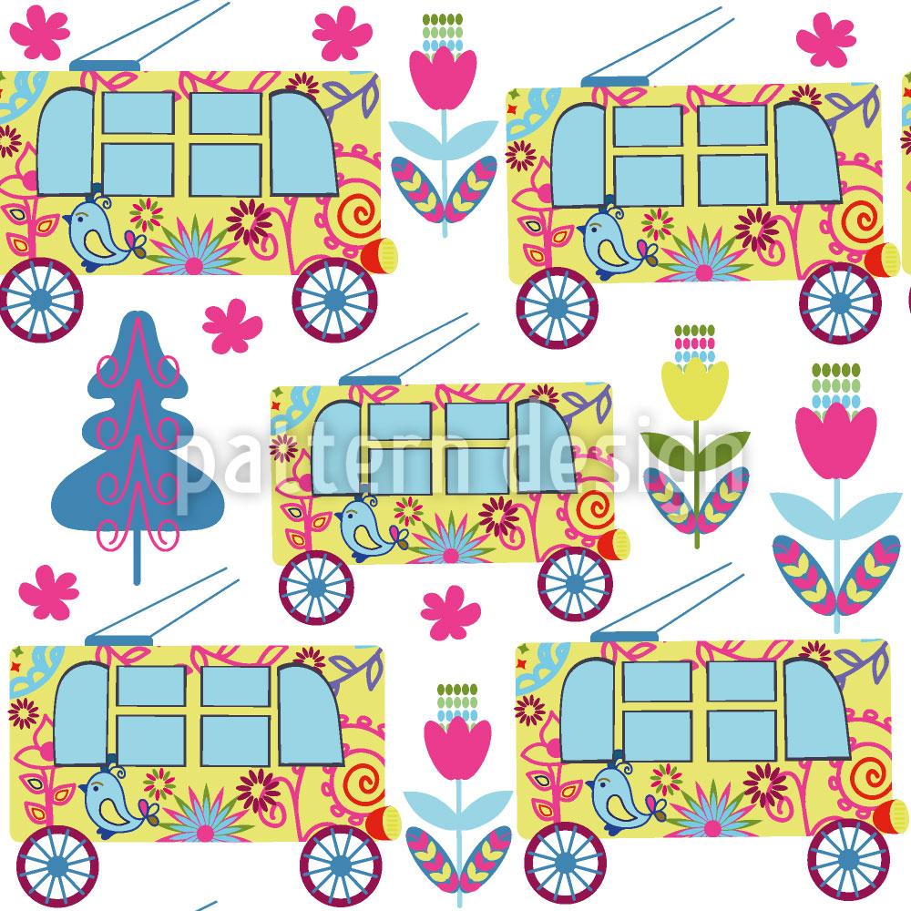 Designtapete Netter Bus