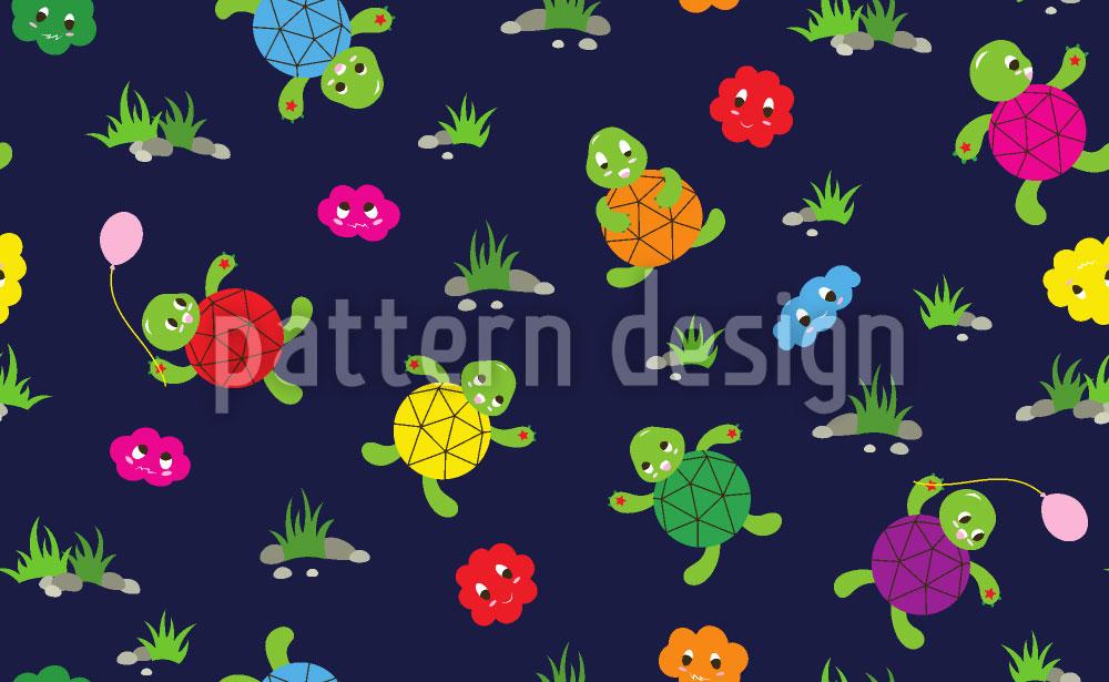 Designtapete Schildkröten Freunde