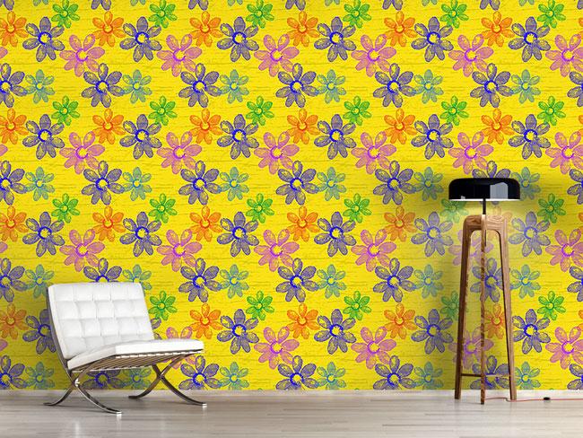 Designtapete Frische Frühlingsblumen