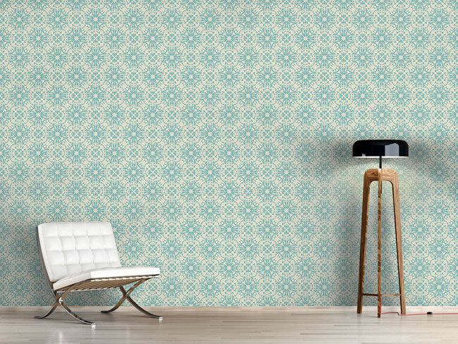 Designtapete Floral Vintage