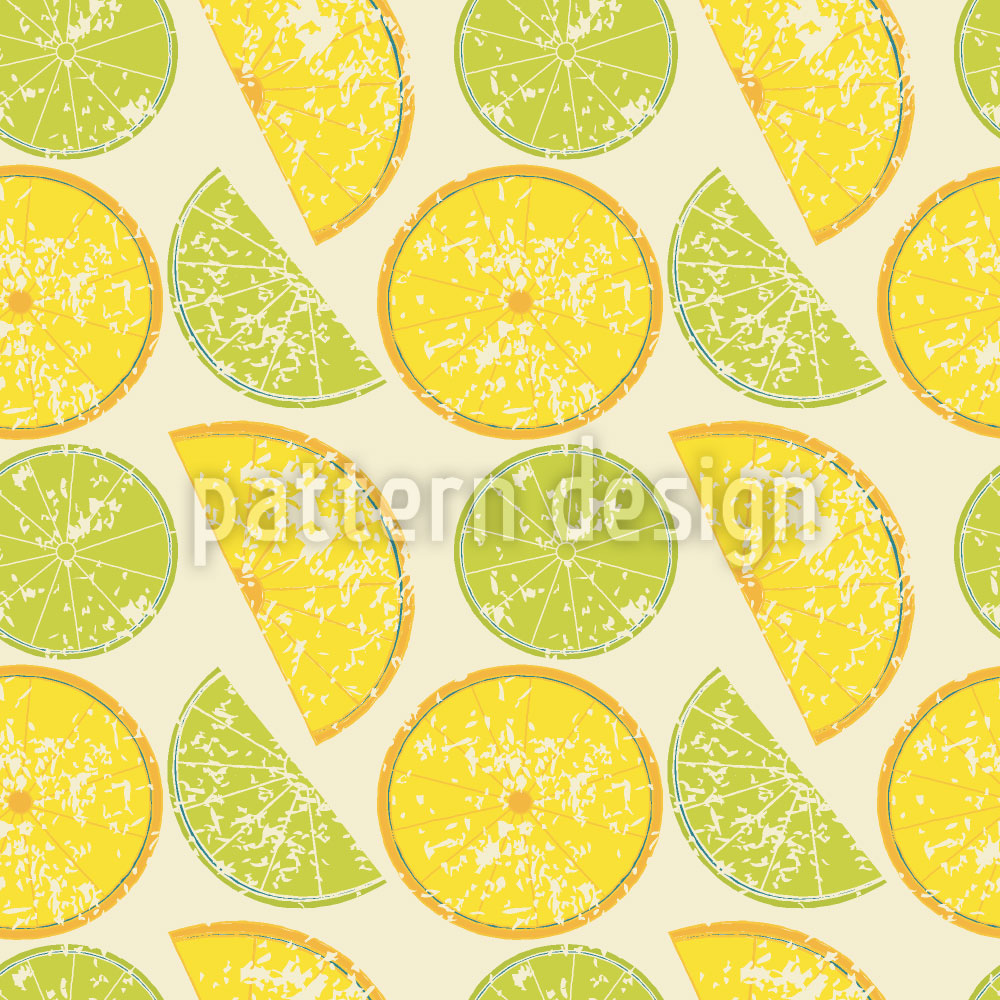 Designtapete Zitrone Oder Limette