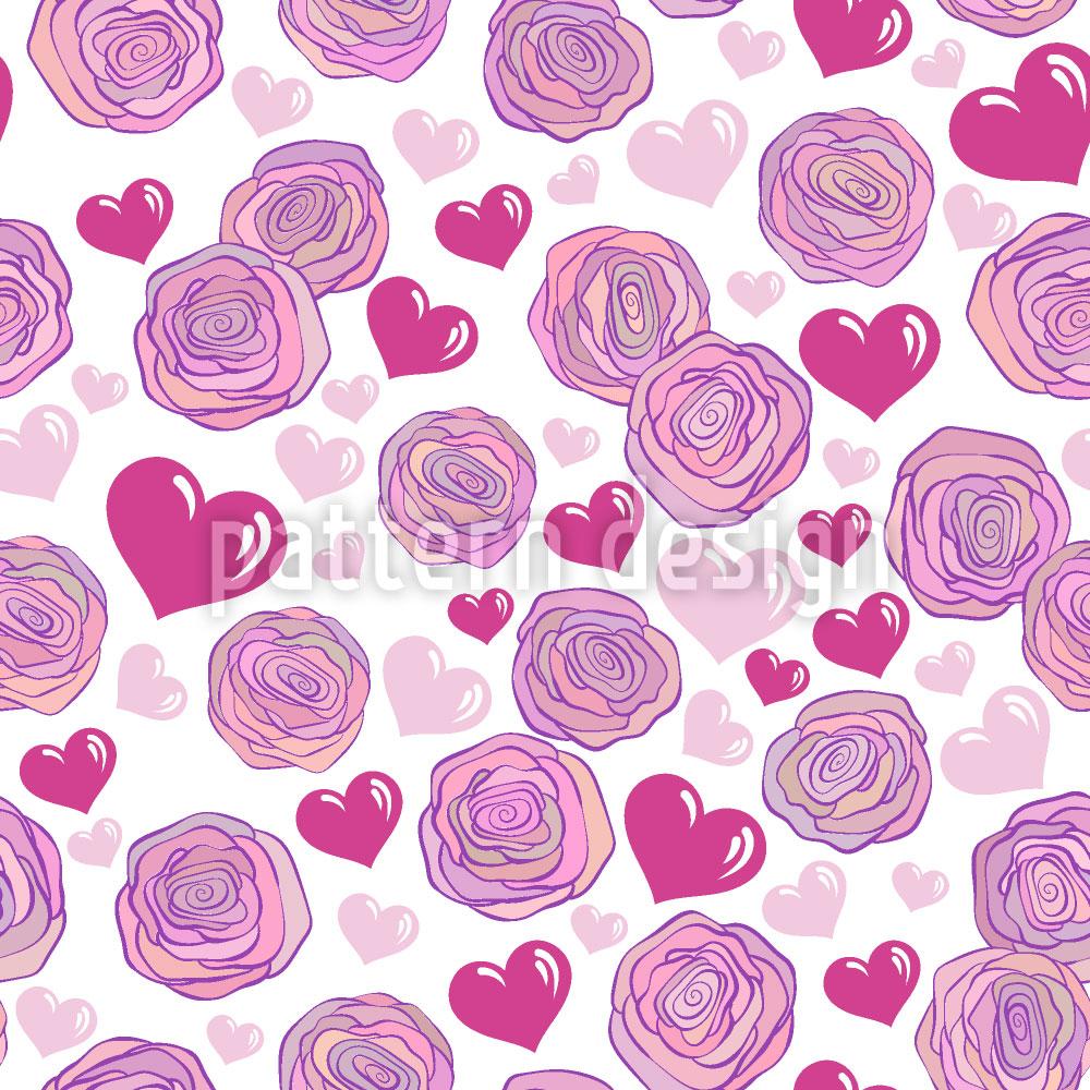 Designtapete Rosen Leidenschaft