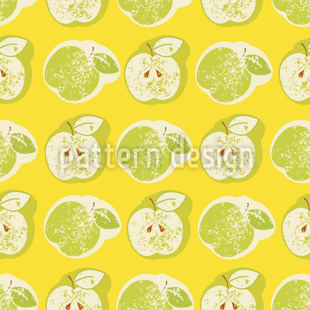 Designtapete Frische Äpfel